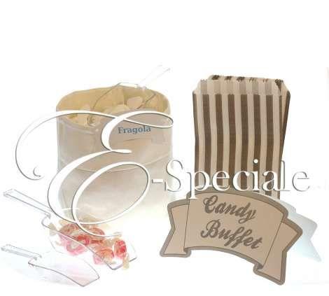 Kit Confettata - Prodotti per Matrimonio - Confetti Caramelle e Confettata - Accessori per la Confettata - accessori e gadget per matrimoni e feste - E-speciale