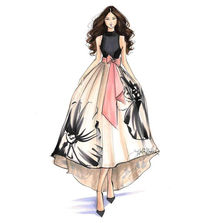 25 Best Ideas About Dress Illustration On Pinterest