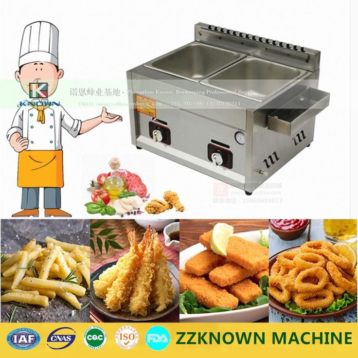 110.80$  Buy here - http://aliv48.worldwells.pw/go.php?t=32720185154 - Commercial Chicken Double Basket 10 Litre Lpg Gas Deep Fryer