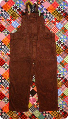 Vintage Herren Latzhose Cord Hose Overall Braun Work Pants Brown Bib Men XL | eBay
