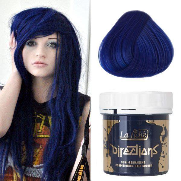 Pin By S Ahmed On Hair Options Blue Hair Streaks Midnight Blue