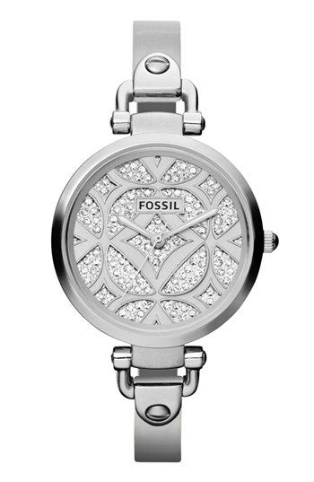 Fossil 'Georgia' Pavé Dial Bangle Watch, 32mm available at #Nordstrom