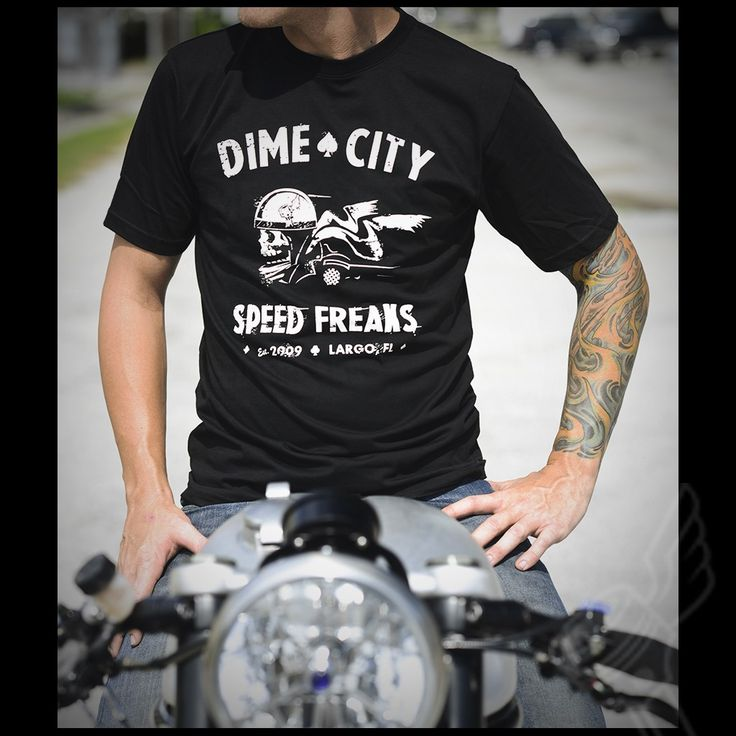 DCC Originals Speed Freaks T-Shirt - Dime City Cycles, Largo, Florida   James Blunt wore this t-shirt on the North American Divide Tour 2017