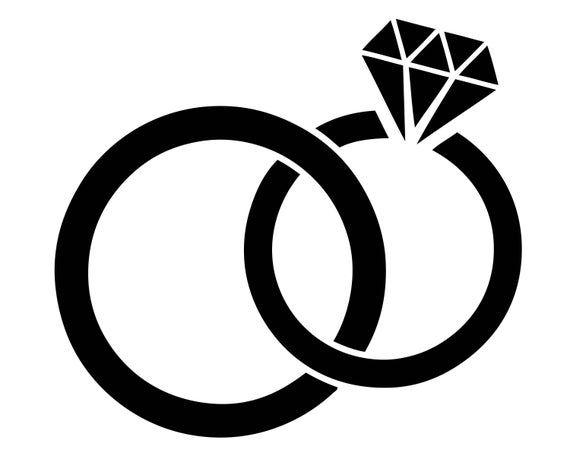 Wedding Rings Diamond Shaped Proposal Love Marriage Jewelry Etsy Wedding Rings Diamond Shape Wedding Ring Clipart Wedding Rings Art