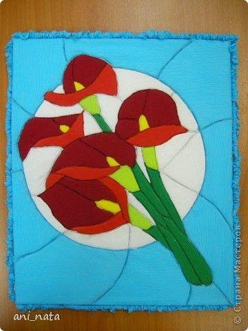 Мастер-класс День матери Кинусайга Кинусайга Бумажный пэчворк из гофрированной бумаги Бумага гофрированная Пенопласт фото 1