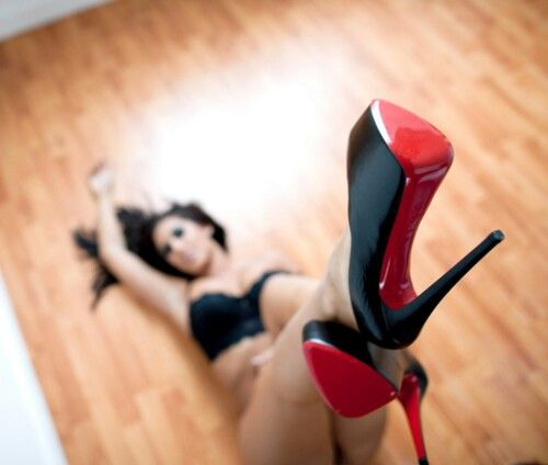 Shiny red bottom heels | Shoe Addiction \u0026lt;3 | Pinterest | Red ...