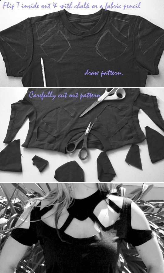 Best ideas about diy shirt on pinterest cutting