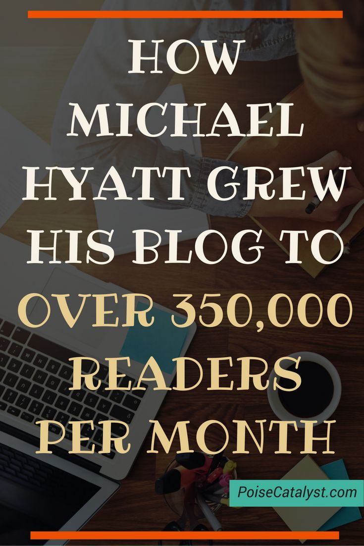 Here's how Michael Hyatt grew his blog to over 350,000 readers per month. Click through to check out the video!