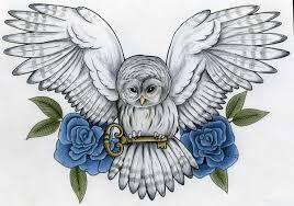 Image result for owl chest tattoo girl