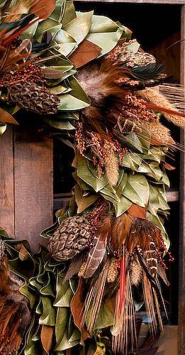 ۞ Welcoming Wreaths ۞ DIY home decor wreath ideas - autumn wreath