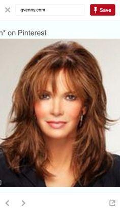 cute medium length shag hairstyles for women over 50