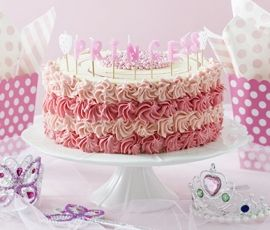Princess Pink Cake: Your little princess will be over the moon with this sweet creation. http://www.bakers-corner.com.au/recipes/cakes/princess-pink-cake/