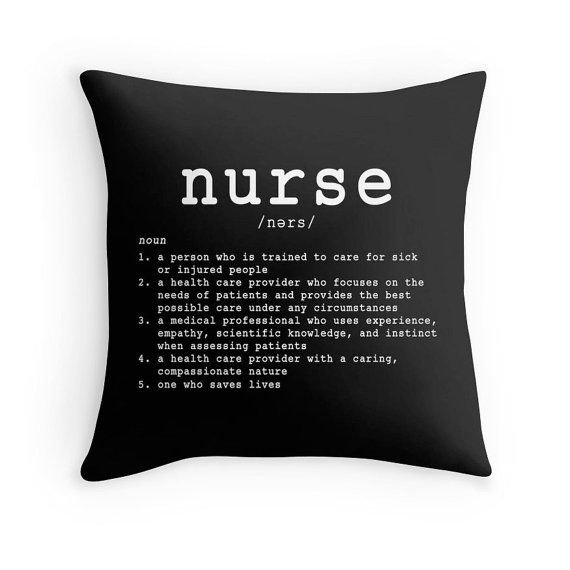 Nurse Pillow IDefineMe Project - Cute and Original Gifts for Nurses - Pin for Later!