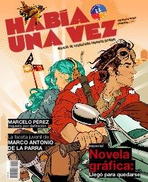 Ultima Revista Había una Vez con portada ilustrada por Marcelo Pérez; grande. Pueden bajarla en: www.revistahabiaunavez.cl y en saldrá Abril INTERACTIVA descargable como App.