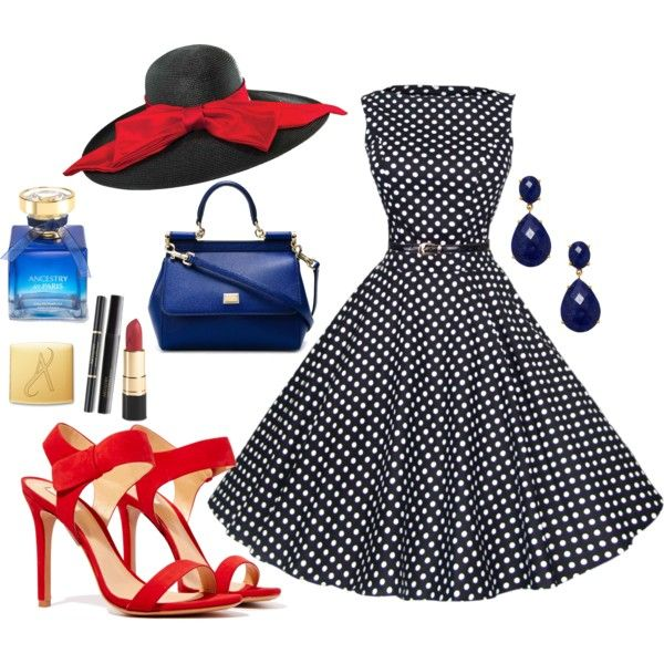 50's style by veradediamant on Polyvore featuring polyvore, moda, style, Schutz, Dolce&Gabbana, KEP Designs and Scala