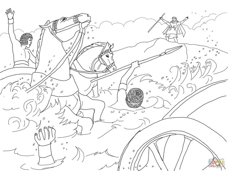 israelites leaving egypt coloring pages - photo#11