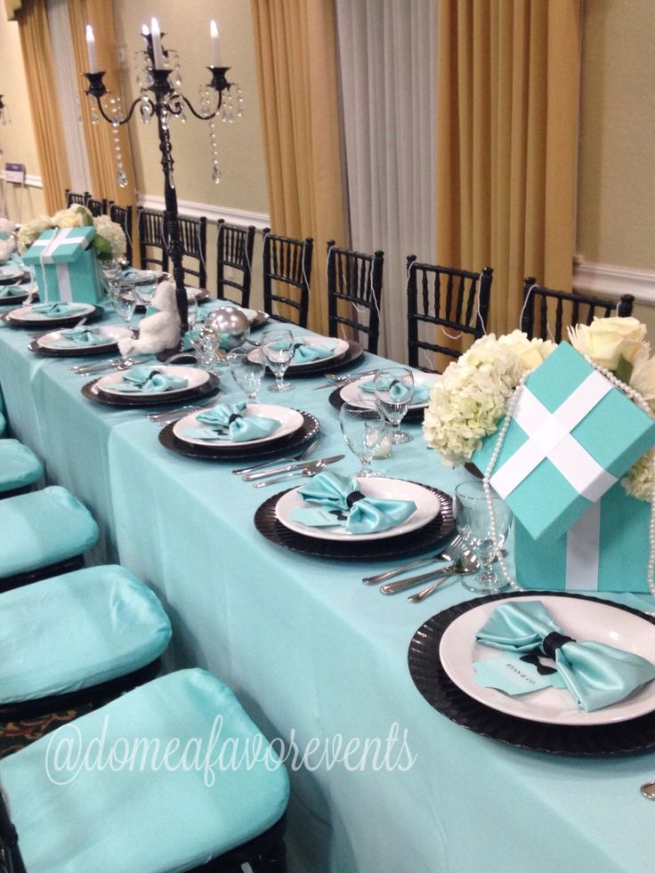 Estate Style Seating For A Tiffany Blue Inspired Baby Shower For A Boy.