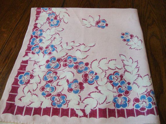 Floral Kitchen Tablecloth Vintage French Country