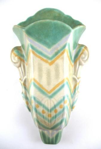Trentham Art Ware Beswick Art Deco Wall Pocket Vase 12 034 High