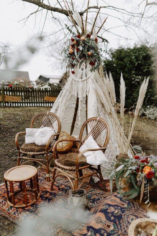Boho-Tipi Liebe für Ihre freie Hochzeit   – Freie Trauung – Deko Ideen
