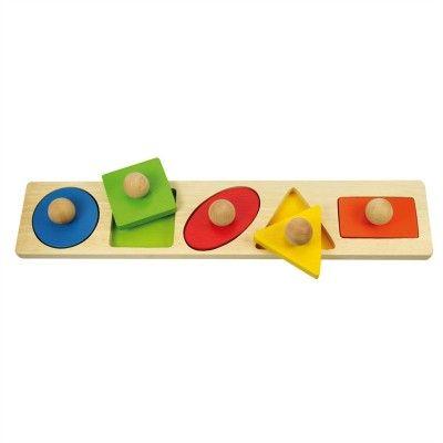 Bigjigs Toys Vkladacie puzzle tvary