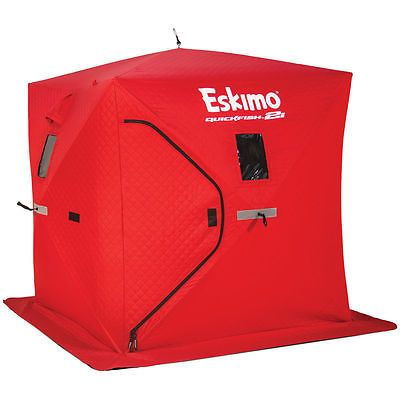NEW Eskimo QuickFish 2i Portable Pop-Up Ice Shelter Insulated Ice Fishing Tent