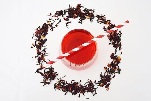 Hibiskus Tee Soda Erfrischend prickelnder Eistee