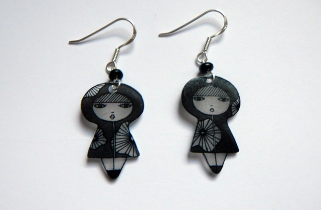 Photo diy for Shrinky Dinks earrings and how to bend the wire component