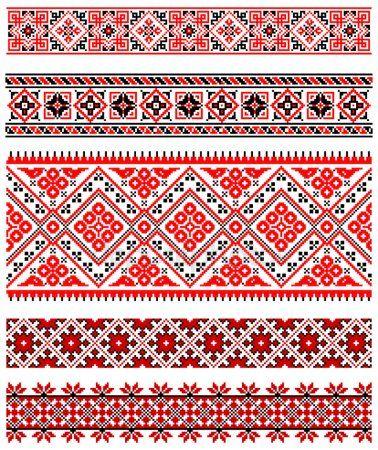 Украинские украшения вышивки Вышивка Вышивка крестиком