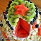 Schoffel Maak JE EEN Watermeloen taart voldaan kokos glazuur Maken.