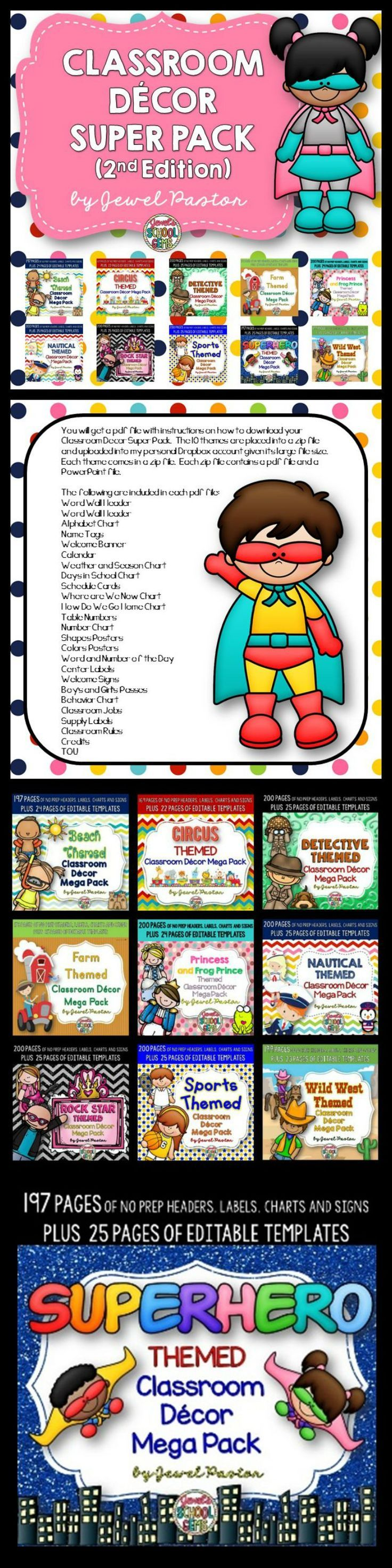 Classroom Decor Packs : Best images about clipart and borders on pinterest