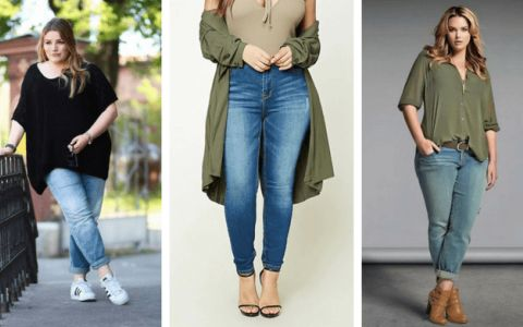 how to wear plus size skinny jeans