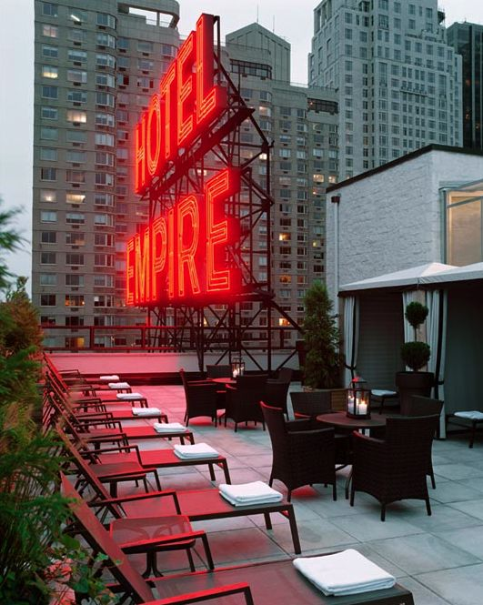 New York: The Empire Hotel Rooftop. Nice place, good drinks!