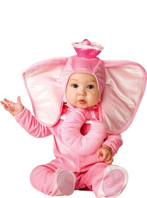 Baby Pink Elephant Costume - Party City