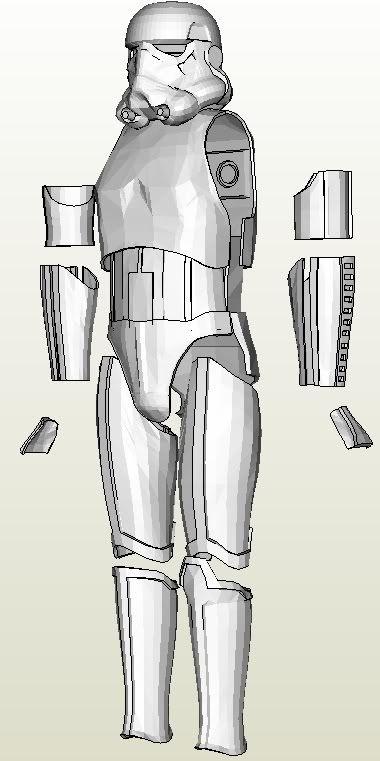 Stormtrooper armor Pepakura