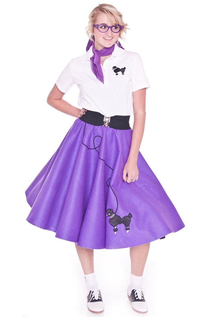 amazoncom hip hop 50s shop adult 3 piece poodle skirt