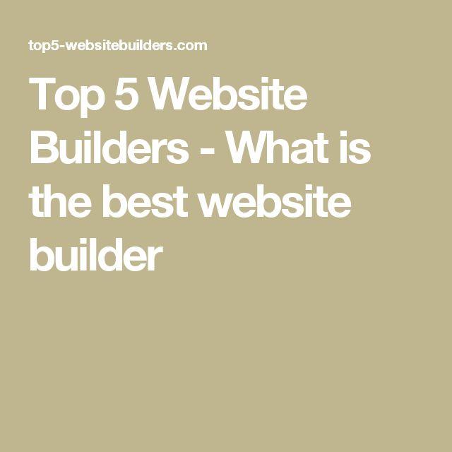 Top 5 Website Builders - What is the best website builder