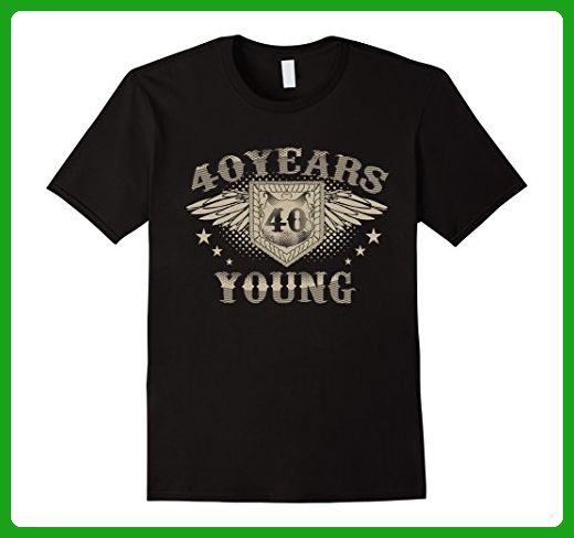 Mens Aged 40 Years Young 40th Birthday T Shirt Gift Small Black - Birthday shirts (*Amazon Partner-Link)