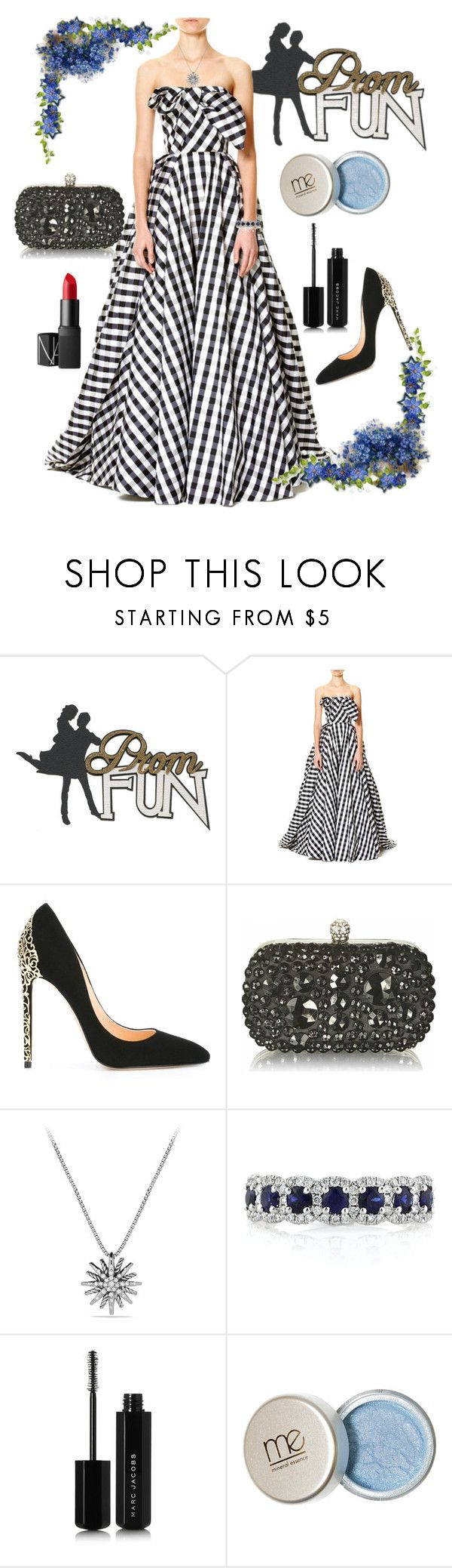 """""""Prom Queen"""" by shirley-de-gannes ❤ liked on Polyvore featuring Carolina Herrera, Cerasella Milano, David Yurman, Mark Broumand, Marc Jacobs and NARS Cosmetics"""