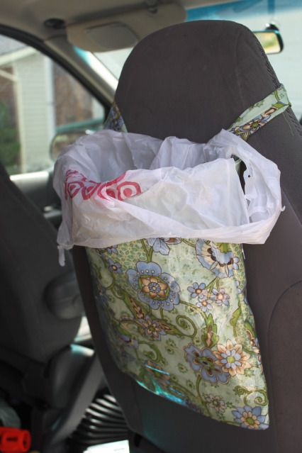 DIY Car Garbage Bag. You guys have NO idea how badly I need this.