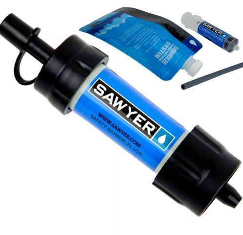 Sawyer MINI Water Filter. The BEST water filtration system available on the market. It even filters out viruses!!