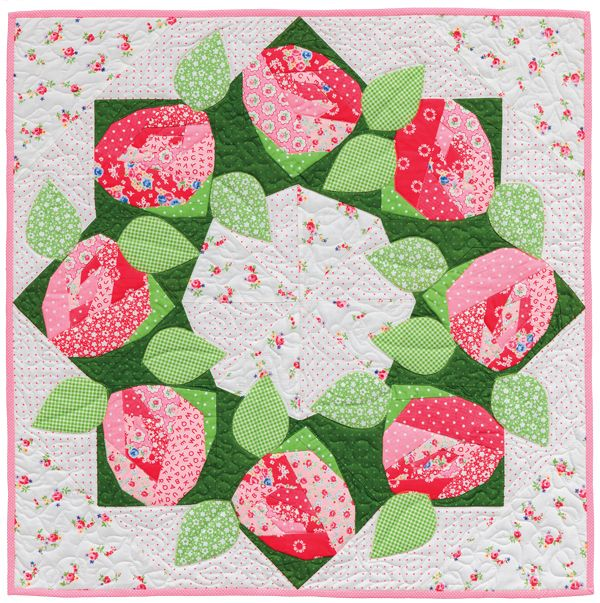 1000 images about flower quilts on pinterest wool for Front door quilt pattern