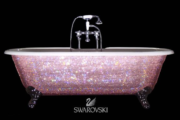 Swarovski Crystal Encrusted Bath Tub :o