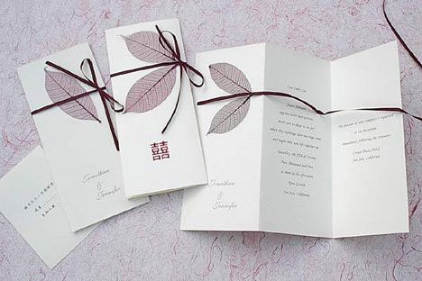 Wedding invitations on recycled paper - http://www.bride.ca/wedding-ideas/index.cfm/2008/10/20/8-Steps-to-a-Greener-Wedding