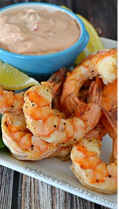 Baked Shrimp with Spicy Dipping Sauce
