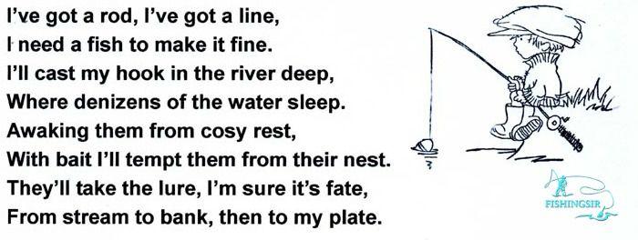 Fishing poem i 39 ve got a rod i 39 ve got a line fishing for The fish poem