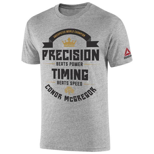 Reebok UFC Fan Conor McGregor Tee - Grey | Reebok US