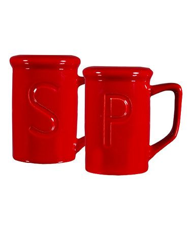 Another great find on #zulily! Red Oven Top Salt & Pepper Shakers by Home Essentials and Beyond #zulilyfinds
