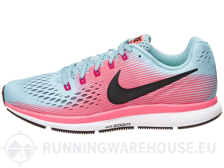 Nike Performance AIR ZOOM PEGASUS 34 - Chaussures de running neutres - solar red/metallic silver/black persian violet/aurora green rouge jNHQ3