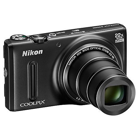 """Early birthday present to myself...I already love it!   Nikon Coolpix S9600 Digital Camera, HD 1080p, 16MP, 22x Optical Zoom, 3"""" Screen Online at johnlewis.com"""